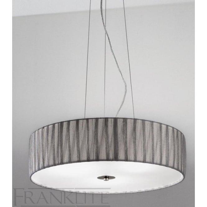 Franklite FL2284/4 FL2284EL/418 Lucera 4 Light Ceiling Pendant Translucent Silver