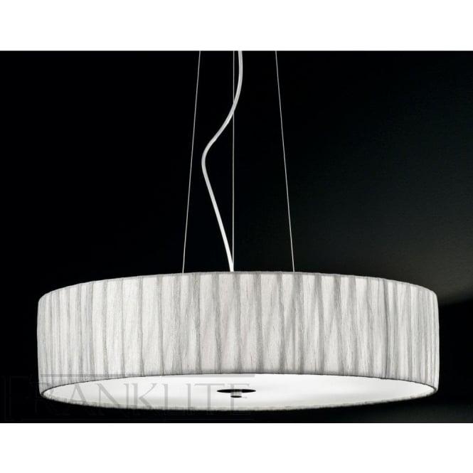 Franklite FL2284/5 FL2284EL/518 Lucera 5 Light Ceiling Pendant Translucent Silver