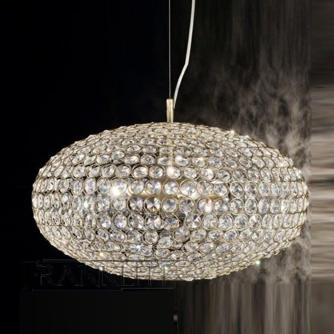 Franklite FL2274/8 Marquesa 8 Light Crystal Ceiling Pendant Bronze