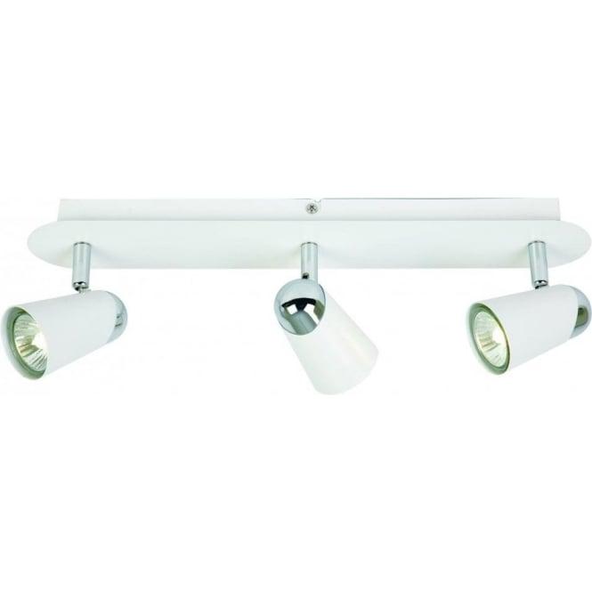Endon EL-10084 3 Light Ceiling Spotlight White/Chrome