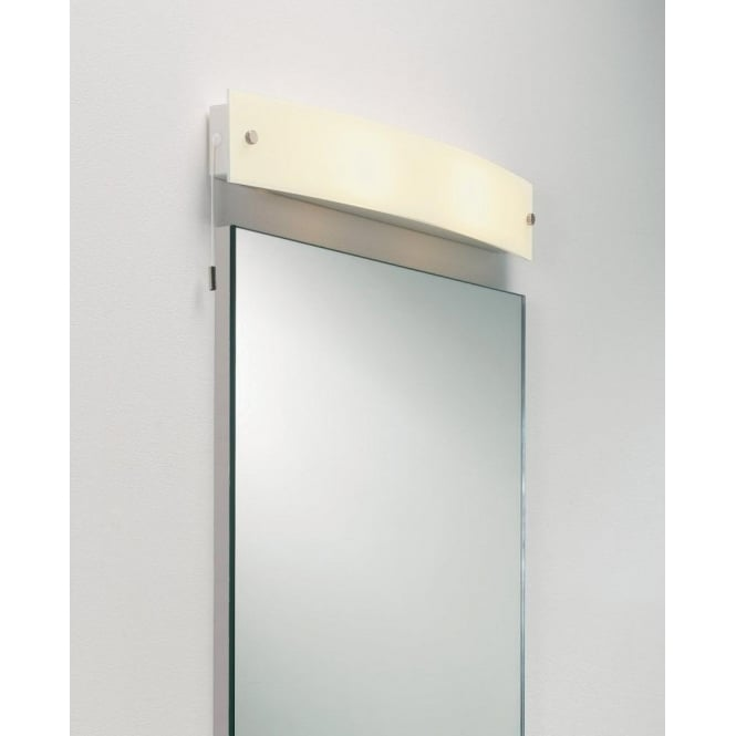 Astro 0243 Curve 2 Light IP44 Switched Wall Light White Frosted Glass