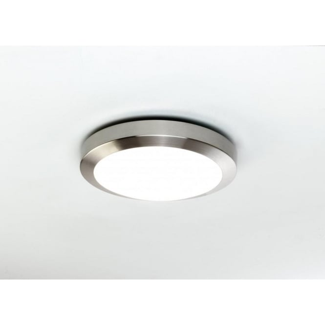 Astro 0674 Dakota 1 Light IP44 Wall/Ceiling Light Brushed Nickel