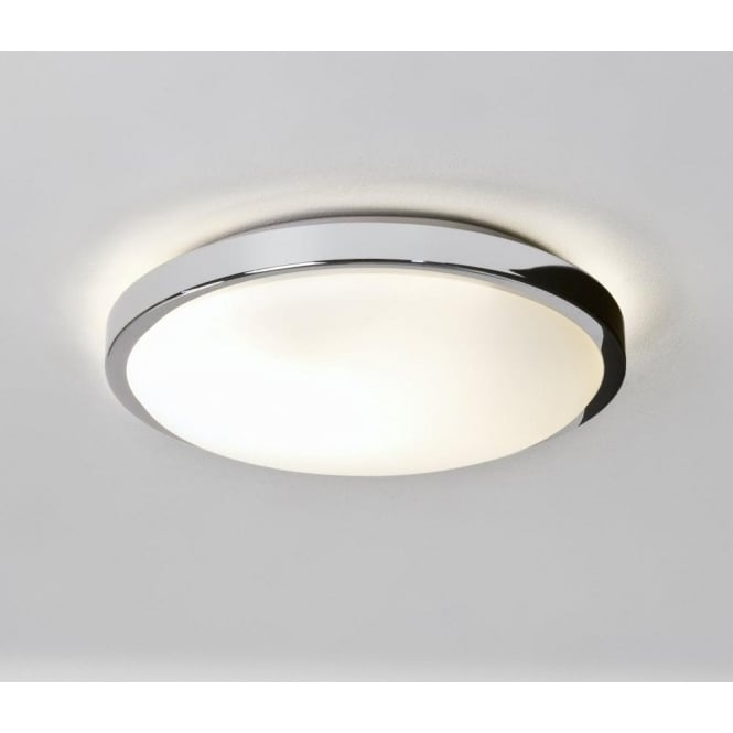 Astro 0587 Denia 2 Light Flush Ceiling Light Polished Chrome IP44