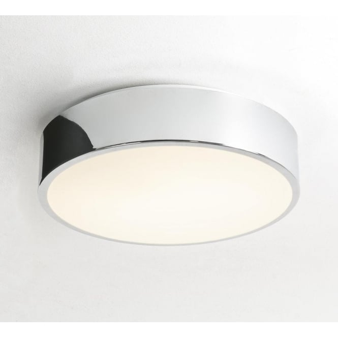 Astro 0591 Mallon Plus 1 Light Flush Ceiling Light IP44 Polished Chrome