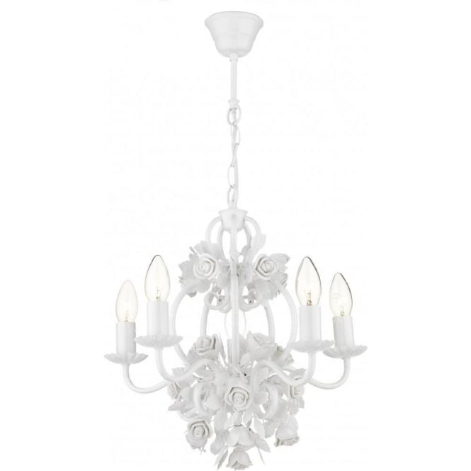 Dar SAS052 Saskia 5 Light Ceiling Light White