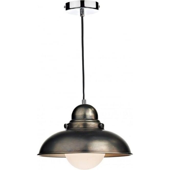 Dar DYN0161 Dynamo 1 Light Ceiling Light Antique Chrome