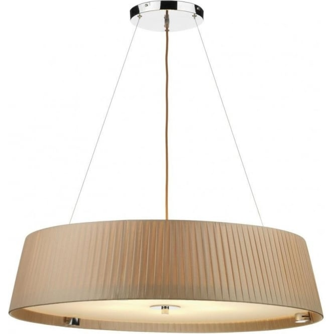Dar WHE0529 Wheel 5 Light Ceiling Pendant Taupe