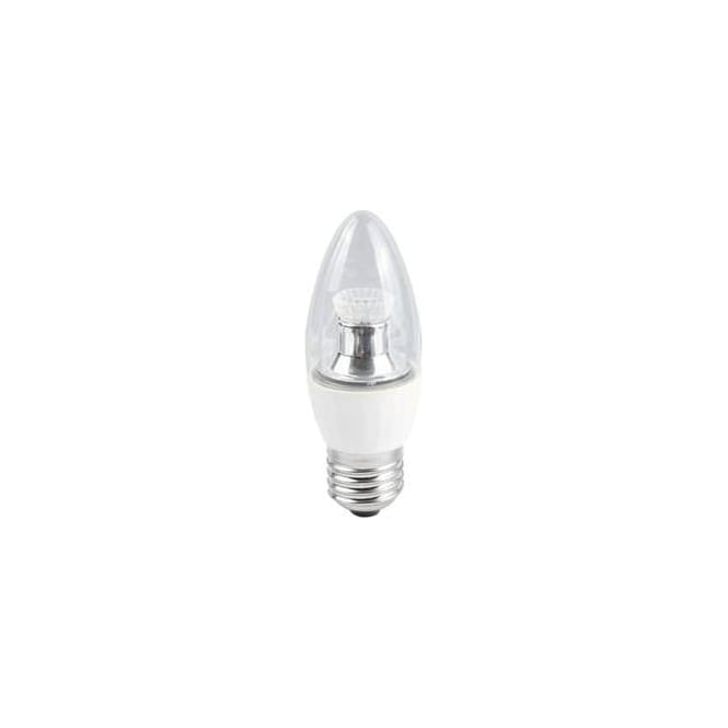 Bell Mains BC/B22 SBC/B15 SES/E14 ES/E27 Dimmable LED 4 Watt Clear Candle Bulb Cool White