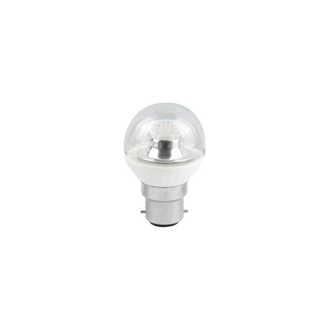 Bell Mains BC/B22 SBC/B15 SES/E14 ES/E27 Dimmable LED 4 Watt Clear Round Ball Bulb Cool White