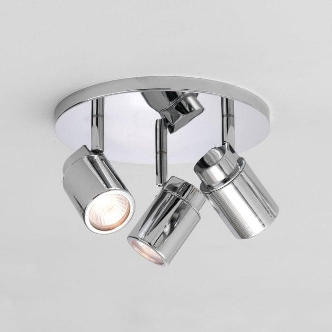 Astro 6107 Como Triple Round 3 Light Ceiling IP44 Spotlight Polished Chrome