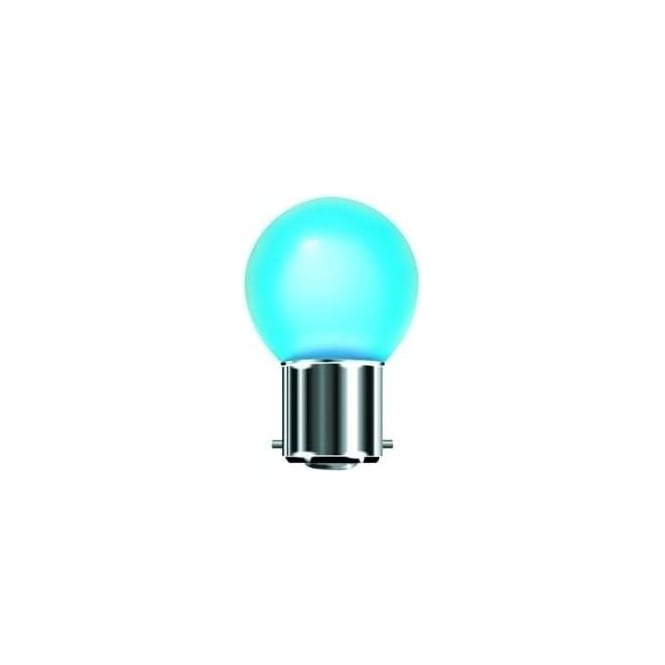 Bell Mains BC/B22 LED 1 Watt Coloured Round Ball Bulb