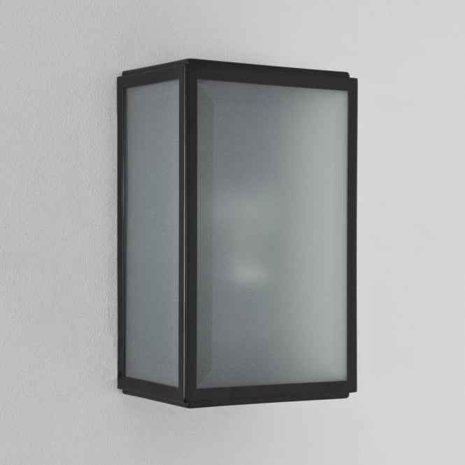 Astro 7081 Homefield Frosted 1 Light Outdoor Wall Light Black IP44