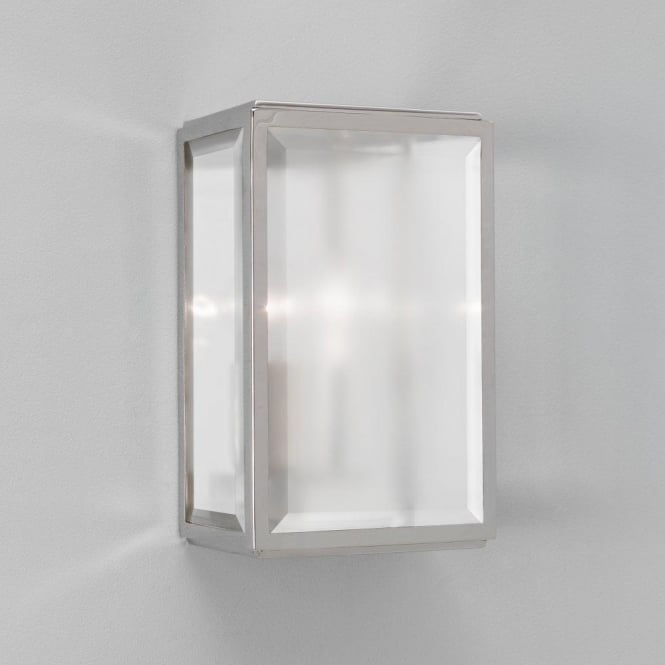Astro 7083 Homefield Frosted 1 Light Outdoor Wall Light Polished Nickel IP44