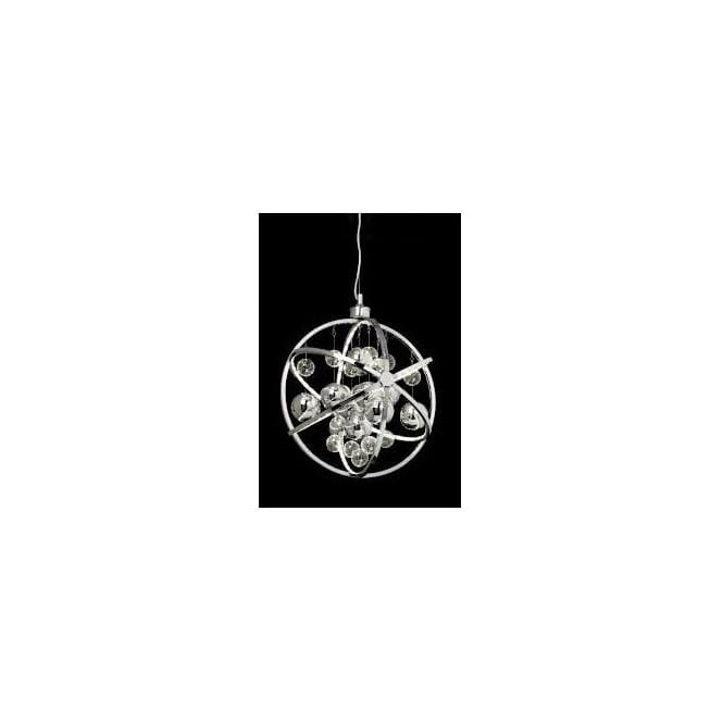 Endon MUNI-CH-L Muni LED Ceiling Pendant Polished Chrome