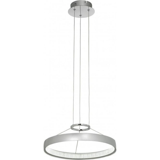 Endon COBURN-P-CH Coburn LED Ceiling Pendant Silver/Chrome