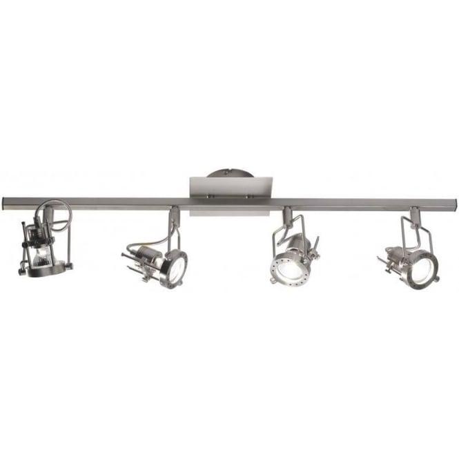 Dar BAU8446 Bauhaus 4 Light Ceiling Bar Spotlight Satin Chrome
