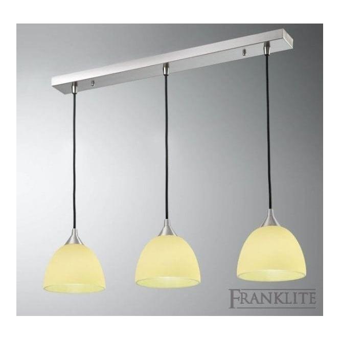 Franklite FL2290/3/940 Vetross 3 Light Ceiling Pendant White/Lime