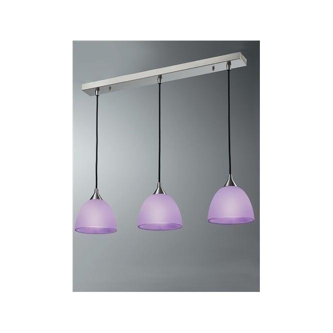 Franklite FL2290/3/949 Vetross 3 Light Ceiling Pendant White/Lilac