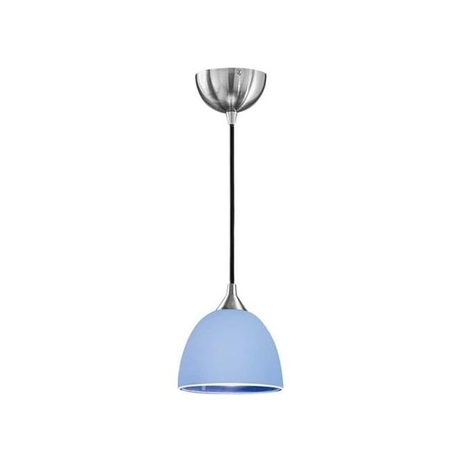 Franklite FL2290/1/943 Vetross 1 Light Ceiling Pendant White/Blue