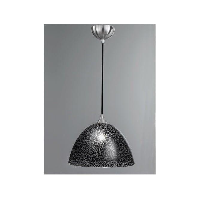 Franklite FL2290/1/953 Vetross 1 Light Ceiling Pendant Black Crackle