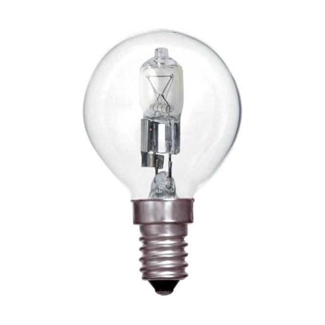 Bell SES/E14 45mm Energy Saving Lamp Clear Halogen Round Ball Bulb
