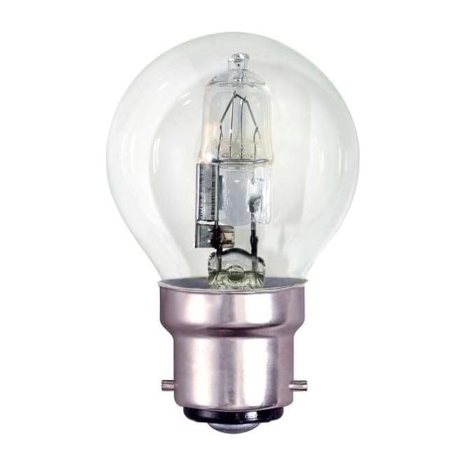 Bell BC/B22 45mm Energy Saving Lamp Clear Halogen Round Ball Bulb