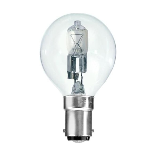 Bell SBC/B15 45mm Energy Saving Lamp Clear Halogen Round Ball Bulb