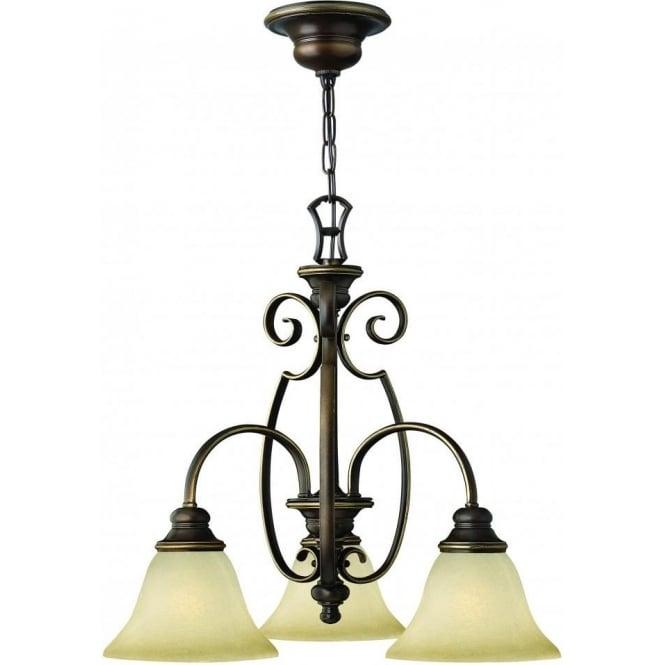 Elstead Lighting Hinkley HK/CELLO3 Cello 3 Light Ceiling Light Antique Bronze