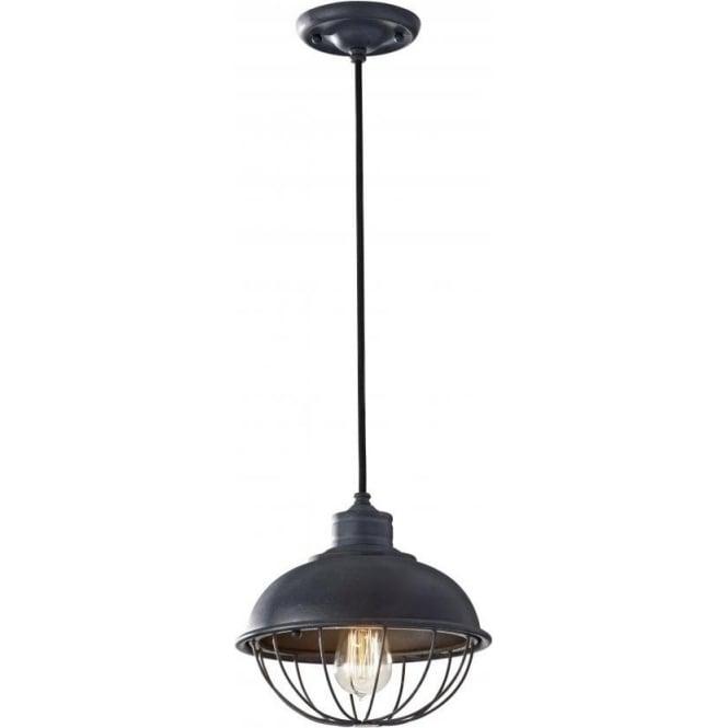 Elstead Lighting Feiss FE/URBANRWL/P/B Urban Renewal 1 Light Ceiling Pendant Antique Forged Iron