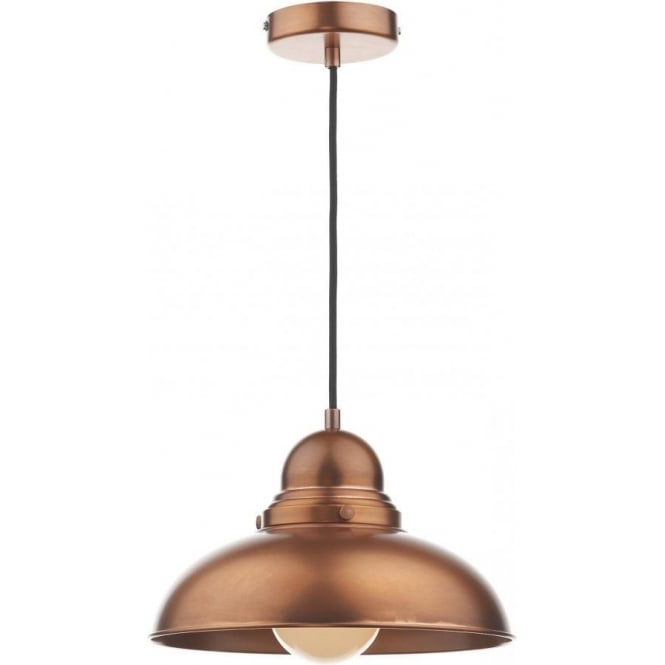 Dar DYN0164 Dynamo 1 Light Ceiling Light Antique Copper