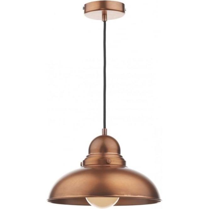 Dar DYN0164 Dynamo 1 Light Ceiling Light Antique Copper