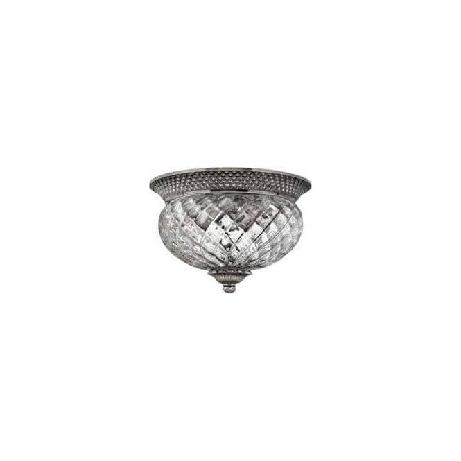 Elstead Lighting Hinkley HK/PLANT/F/S-PL Plantation 2 Light Ceiling Light Polished Antique Nickel