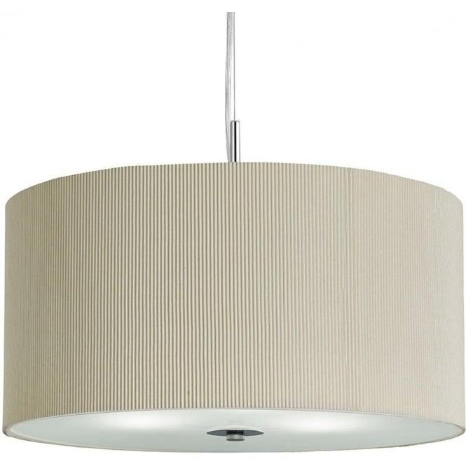 Searchlight 2356-60CR Drum Pleat 3 Light Ceiling Pendant Cream