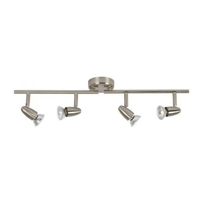 Endon 60995 4 Light Bar Ceiling Spotlight Satin Nickel