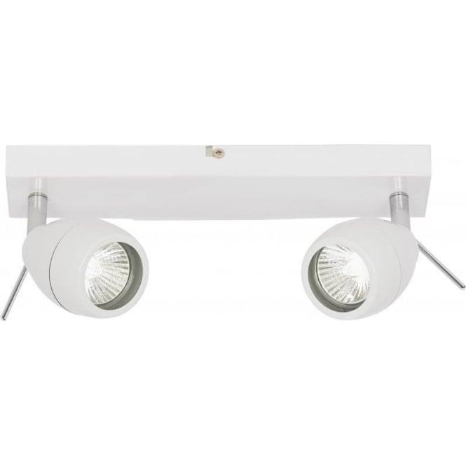 Endon EL-20094 Travis 2 Light  Bathroom IP44 Ceiling Spotlight White