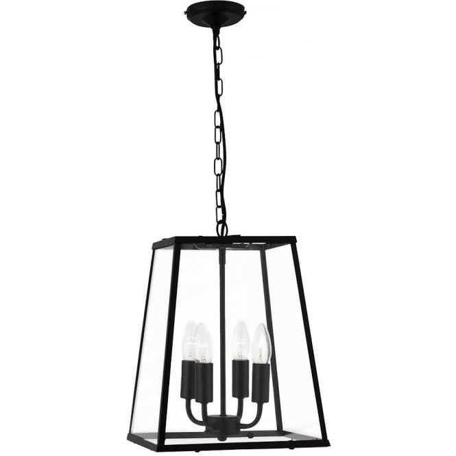Searchlight 5614BK 4 Light Lantern Black