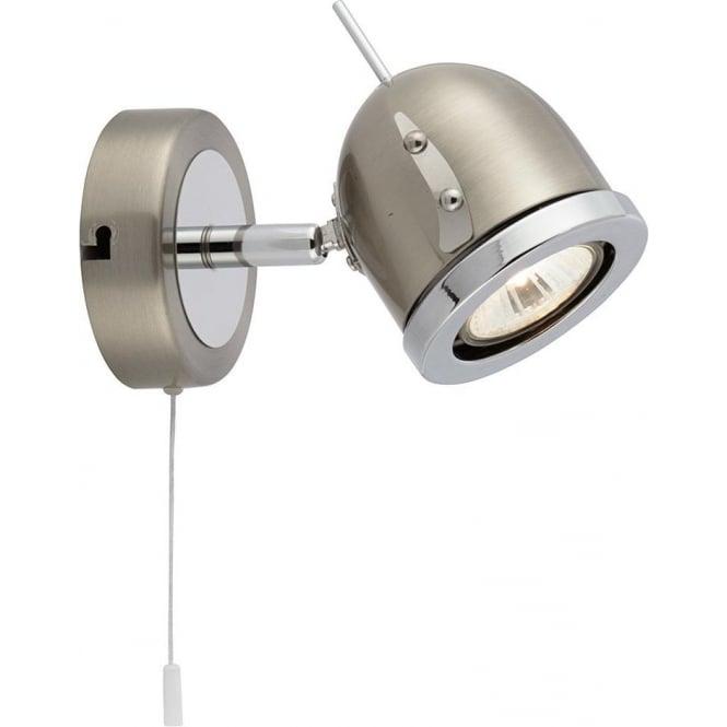 Searchlight 4921SS Palmer 1 Light Switched Spotlight Satin Silver