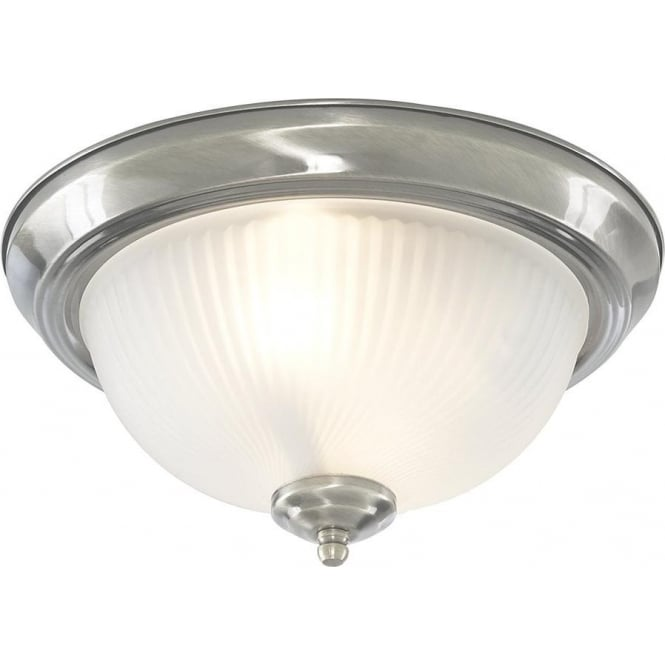 Searchlight 4042 American Diner 2 Light Flush Ceiling Light Polished Chrome IP44