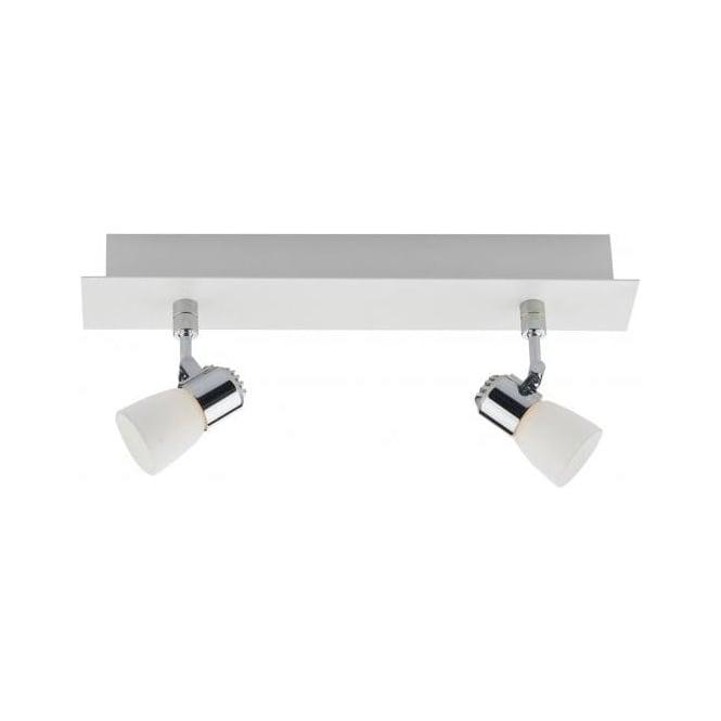 Dar OXY772 Oxygen 2 Light LED Ceiling Spotlight White