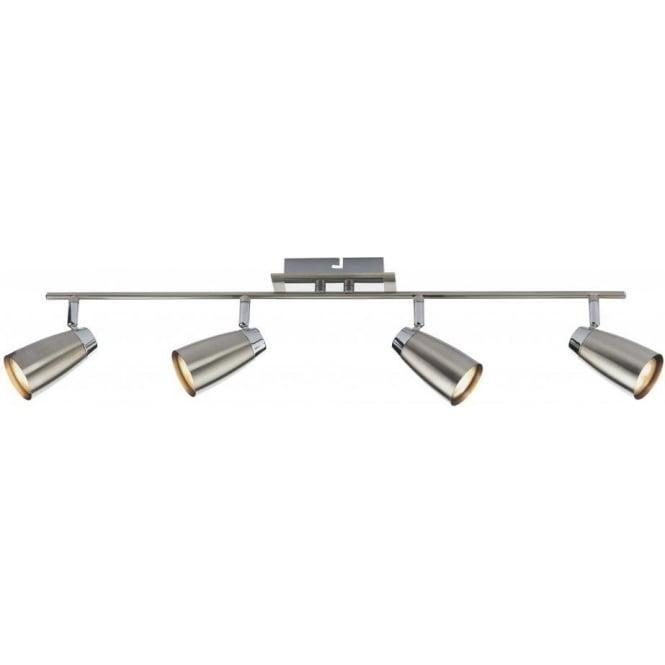 Dar LOF8446 Loft 4 Light Ceiling Bar Spotlight Satin Chrome