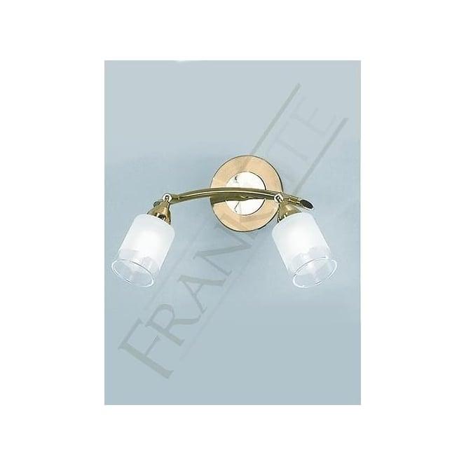 Franklite DP40012 Campani 2 Light Switched Wall Spotlight Gold