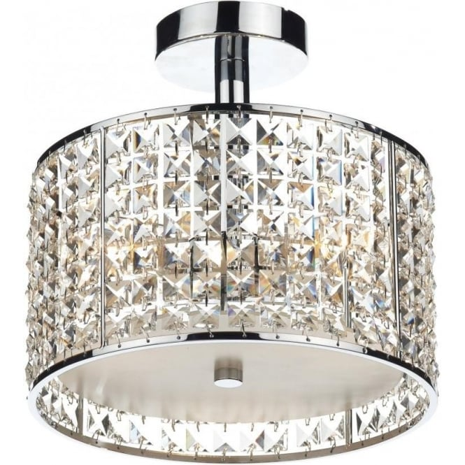 RHO5350 Rhodes 3 Light Bathroom Ceiling Light Polished Chrome
