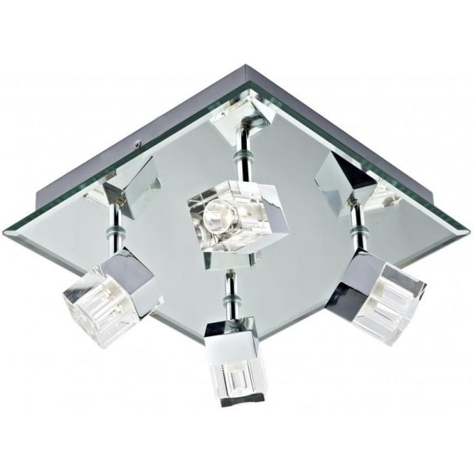 Dar LOG8550/LED Logic 4 Light LED Bathroom Ceiling Spotlight
