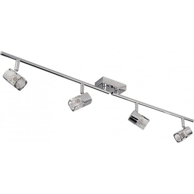 Searchlight 9884CC Blocs 4 Light Ceiling Spotlight Polished Chrome