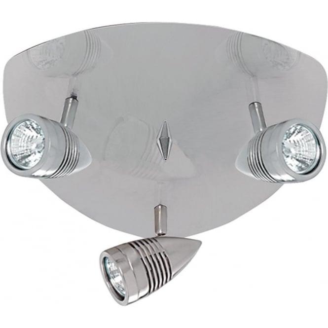 Searchlight 693SS Falcon 3 Light Ceiling Spotlight Satin Silver