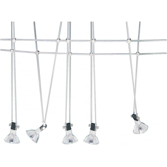 Searchlight 1744 Cable Kits 5 Light Ceiling Pendant Polished Chrome