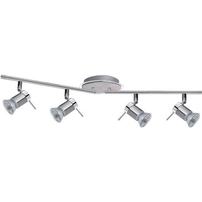 Searchlight 7444CC-LED Aries 4 Light Ceiling Spotlight Polished Chrome