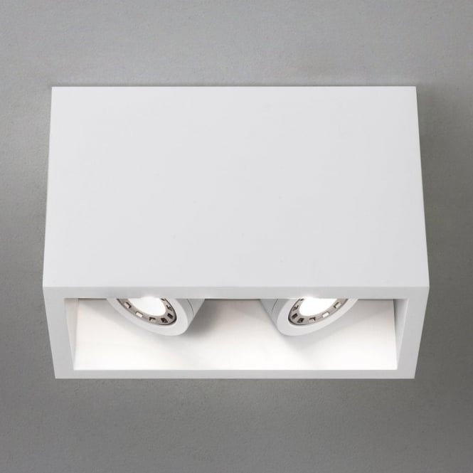 Astro 5684 Osca 140 Twin Adjustable GU10 LED Plaster Finish