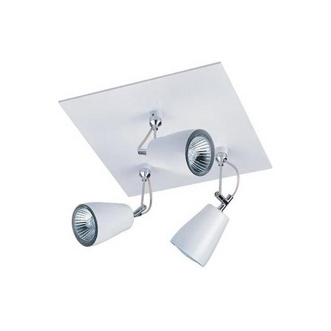 Astro 6005 Polar Triple Square 3 Light Spotlight White