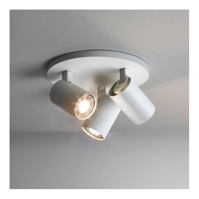 Astro 6143 Ascoli Triple Round 3 Light Spotlight White